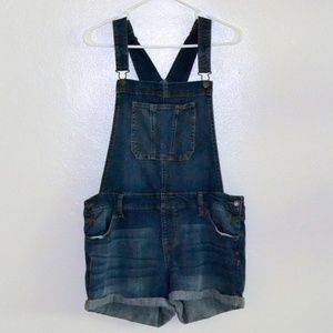 Adorable Denim Shortalls